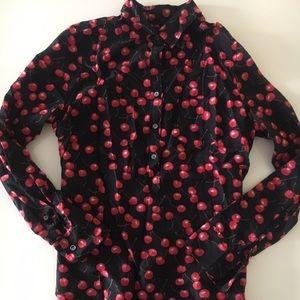 J. Crew Popover Cherry Shirt